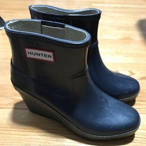 Hunter Ankle Wedge Rain Boots